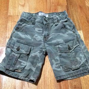 Boy's Levi camouflage cargo shorts, size 5.